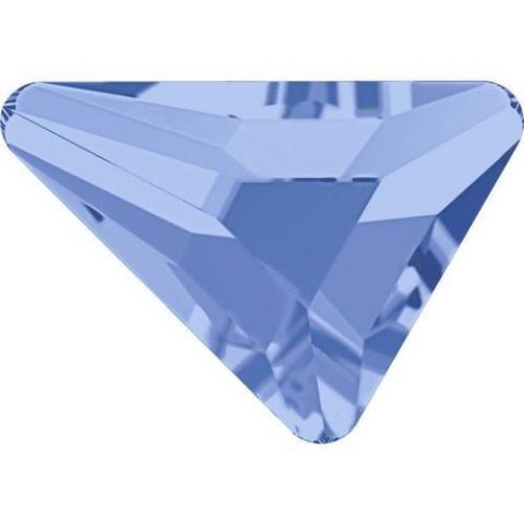 2739 Triangle Beta Crystals, Flatback, No-Hotfix, Light Sapphire